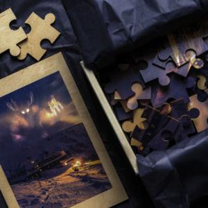 Drewniane puzzle z Bestią