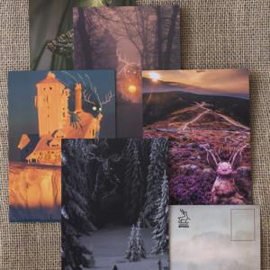 Kolekcjonerski pakiet pocztówek z Bestiami
